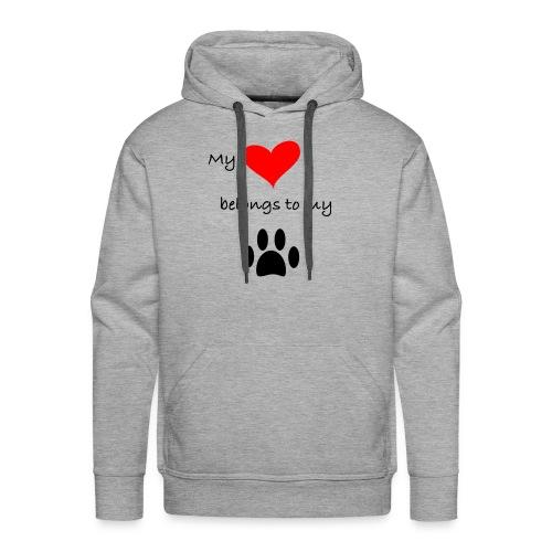 Dog Lovers shirt - My Heart Belongs to my Dog - Men's Premium Hoodie