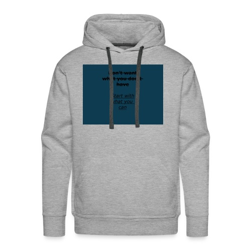 inspiring start (important message to deliver) - Men's Premium Hoodie
