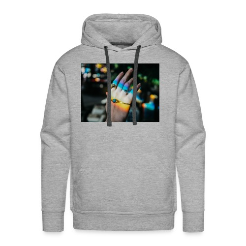 COLOR MY WORLD WITH MY HEART IN YOUR HAND X - Men's Premium Hoodie