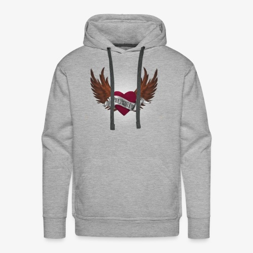 Never again memorial heart - Men's Premium Hoodie