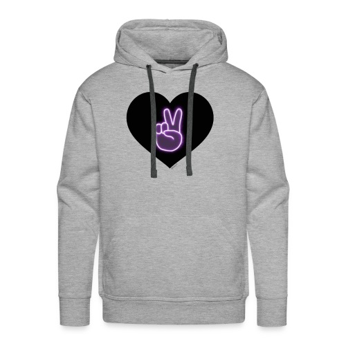 Peace victory Dolan twins sign in a love heart - Men's Premium Hoodie