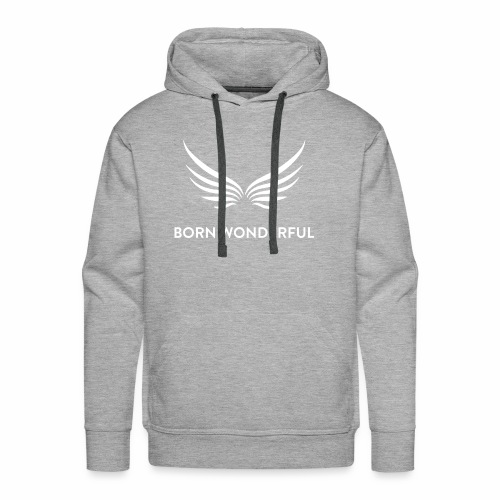 white logo transparent background - Men's Premium Hoodie
