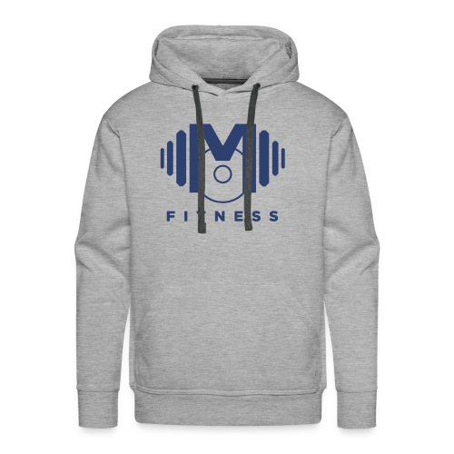 Mo Fitness - Blue - Men's Premium Hoodie