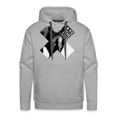 3D Save The Rhino (Black and White) - Men's Premium Hoodie