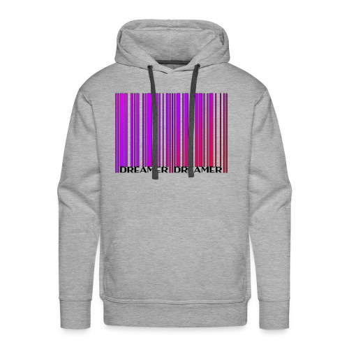 DREAMER Barcode (rainbow-black) - Men's Premium Hoodie