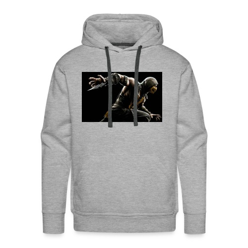 mortal kombat x scorpion wide - Men's Premium Hoodie
