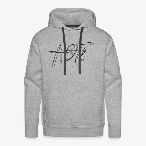 AOE Logo M1 Black - Men's Premium Hoodie