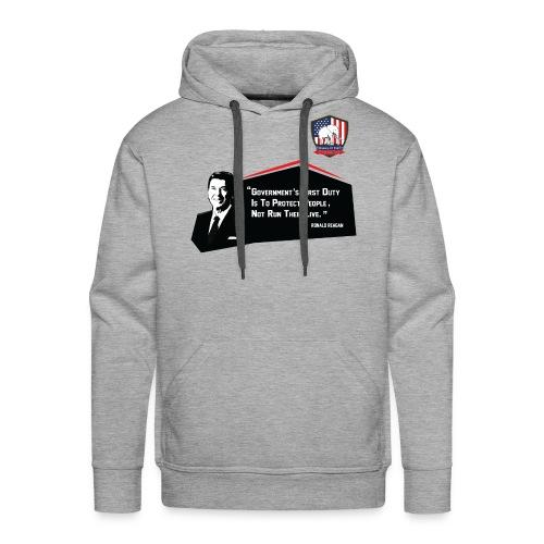 College Republicans UT - Ronald Reagan - Men's Premium Hoodie