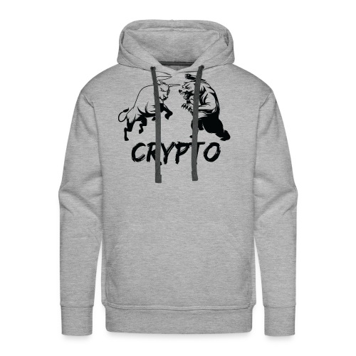 CryptoBattle Black - Men's Premium Hoodie