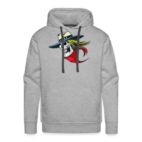 Skull Winged Rose - Men's Premium Hoodie