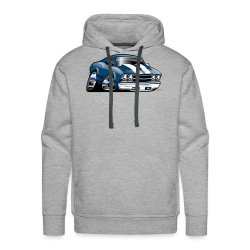 69 Muscle Car Cartoon - Men's Premium Hoodie