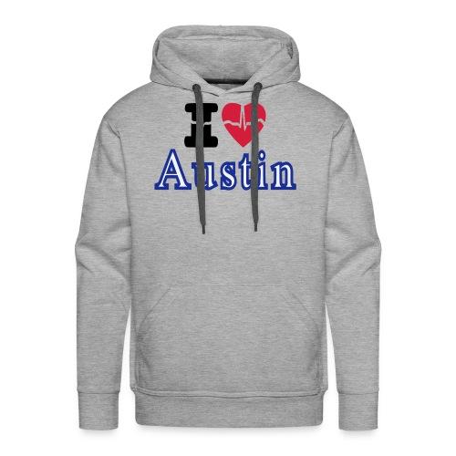 Love Austin Heart - Men's Premium Hoodie
