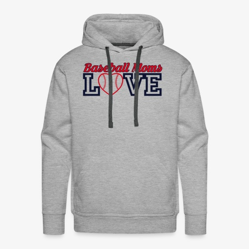 baseball mom love - Men's Premium Hoodie