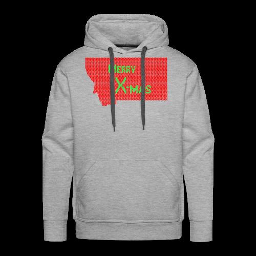 Merry X-mas, From Montana - Men's Premium Hoodie