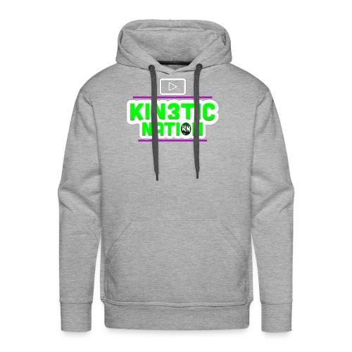 Green Kin3ticNation logo - Men's Premium Hoodie