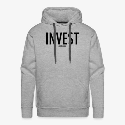 invest clothing black text - Men's Premium Hoodie
