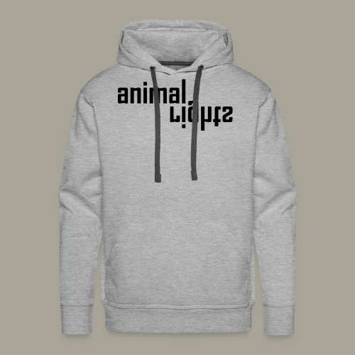 Animal Rights Protection Idea Gift - Men's Premium Hoodie