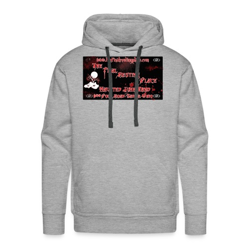 The_Final_Resting_Place_Logo_Address - Men's Premium Hoodie