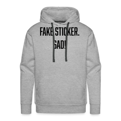 fake sticker - Men's Premium Hoodie