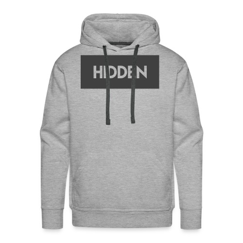 Hidden Grey and Transparent Logo - Men's Premium Hoodie