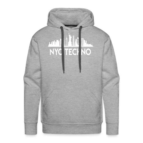 NYC Techno Skyline - Men's Premium Hoodie