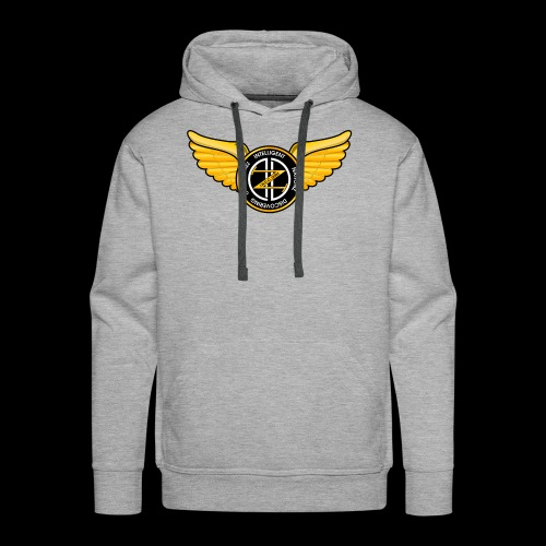 Winged Out Black/Yellow - Men's Premium Hoodie