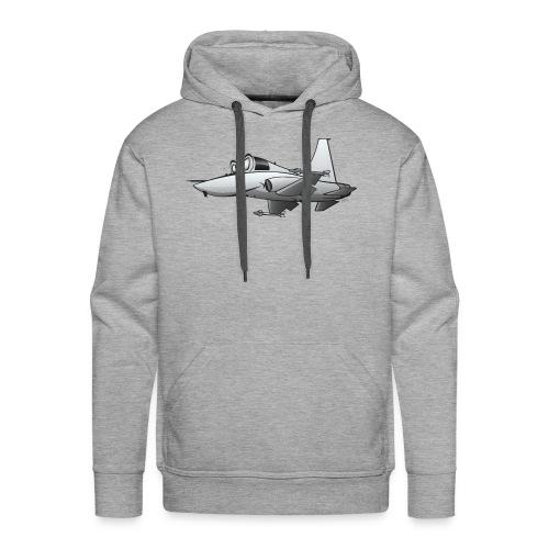 Military Fighter Jet Airplane Cartoon - Men's Premium Hoodie