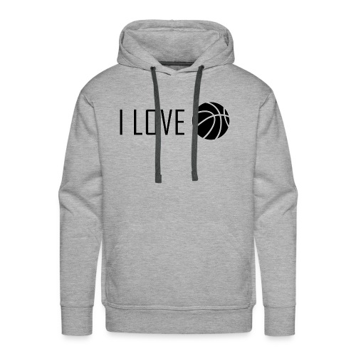 I Love Basketball - Men's Premium Hoodie