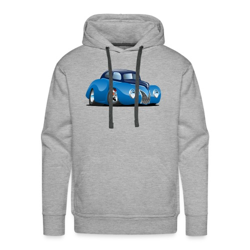 Classic 39 Street Rod Coupe Custom Car Cartoon - Men's Premium Hoodie