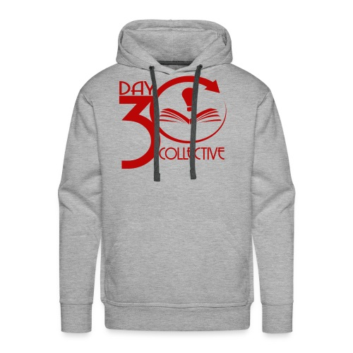 30 Day Collective Logo, Red - Men's Premium Hoodie