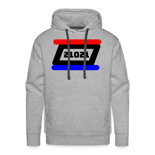 21021 Black White Red - Men's Premium Hoodie
