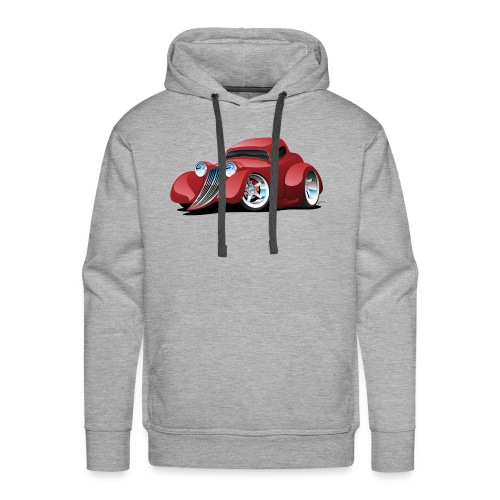 Red Hot Rod Restomod Custom Coupe Cartoon - Men's Premium Hoodie