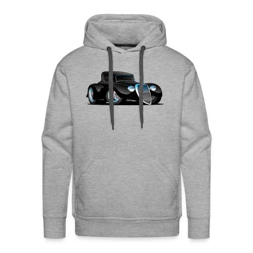 Black Hot Rod Classic Coupe Custom Car Cartoon - Men's Premium Hoodie