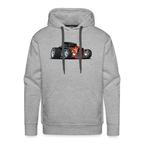 Hot Rod Classic Coupe Custom Car Cartoon - Men's Premium Hoodie