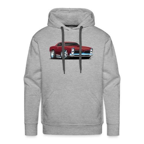 Classic American Muscle Car Cartoon - Men's Premium Hoodie