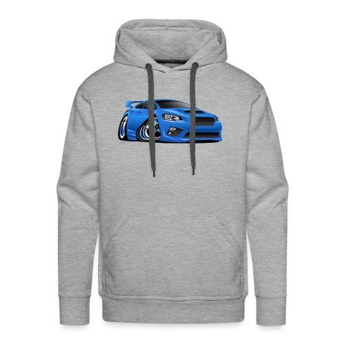 Modern Import Sports Car Cartoon Illustration - Men's Premium Hoodie