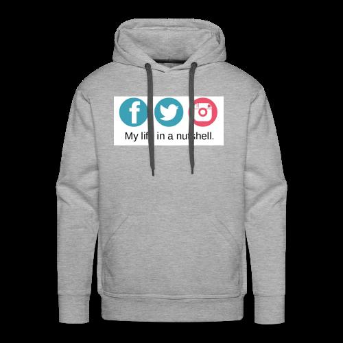 My Life In A Nutshell Social Media - Men's Premium Hoodie