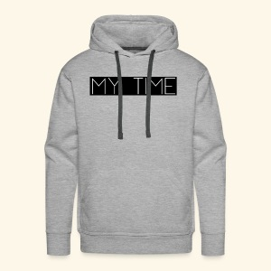 My Time Black Logo - Men's Premium Hoodie