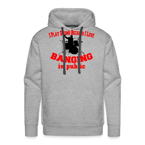 i play drums tshirt - Men's Premium Hoodie