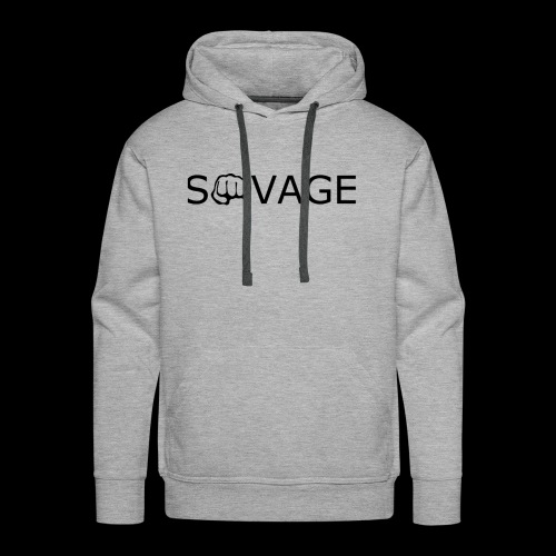 savage black design - Men's Premium Hoodie