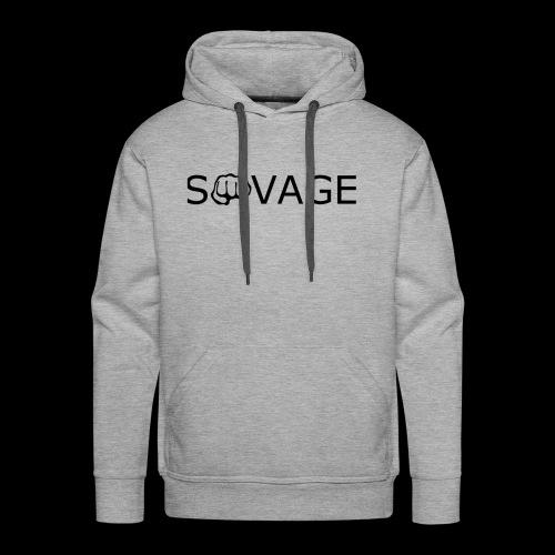 savage black design - Men's Premium Hoodie