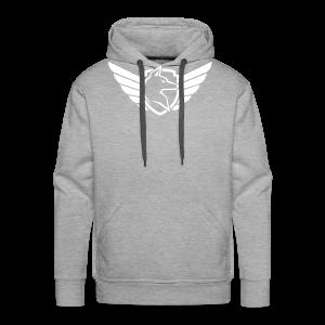 White Chest Logo - Men's Premium Hoodie