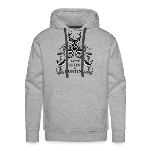 I love fishing and hunting - Men's Premium Hoodie