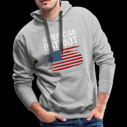 Patriotic American - Men's Premium Hoodie