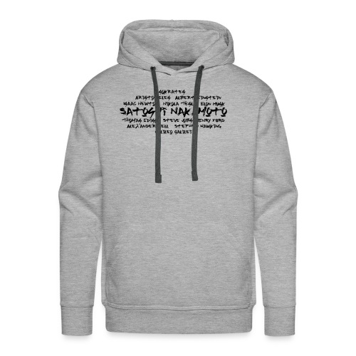 Satoshi Nakamoto Bitcoin and other inventors - Men's Premium Hoodie