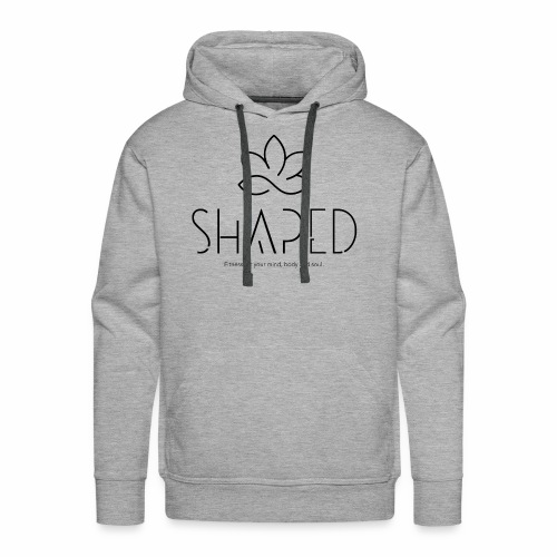 SHAPED Logo - Black - Men's Premium Hoodie