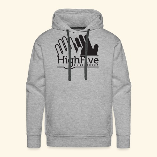High Five Publishing Logo - black - Men's Premium Hoodie
