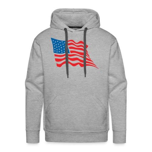 America Flag - Men's Premium Hoodie