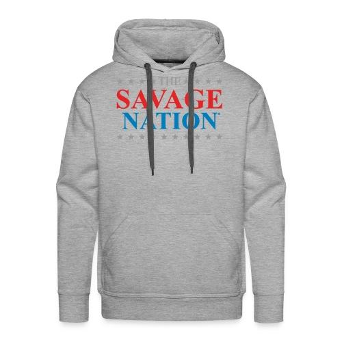 The Savage Nation Logo sch - Men's Premium Hoodie