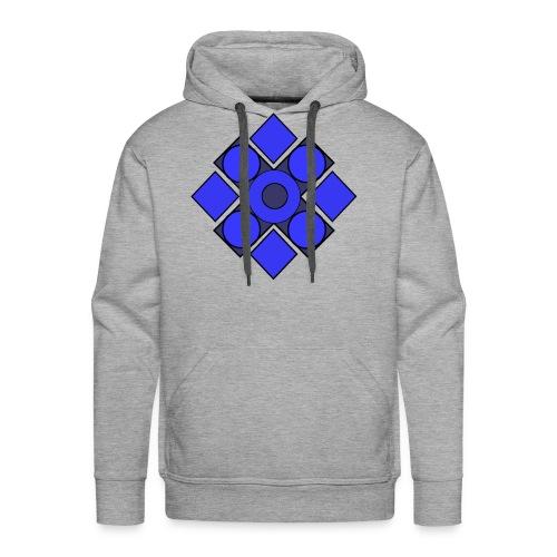 Geometric Cerulean - Men's Premium Hoodie